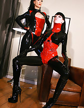 Playing with my latex slave girl, pic #1