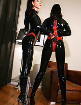 Playing with my latex slave girl, pic #6