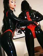 Playing with my latex slave girl, pic #7