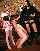 Hot lesbians in a femdom fairytale, pic #11