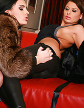 Classy ladies play in real furs, pic #12