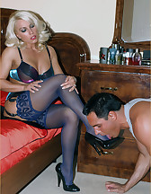 Silky purple nylons, pic #9