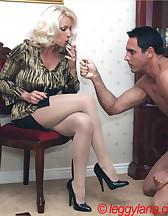 Lana Cox smokes cock, pic #1
