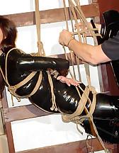Suspension rope bondage, pic #6