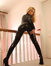 Tight Sexy Leather Catsuit, pic #11