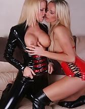 Lesbian Latex Sofa Fetish, pic #11