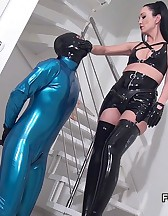 Rubber Strap-on Training, pic #1